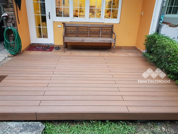 Composite deck can be built in all sizes