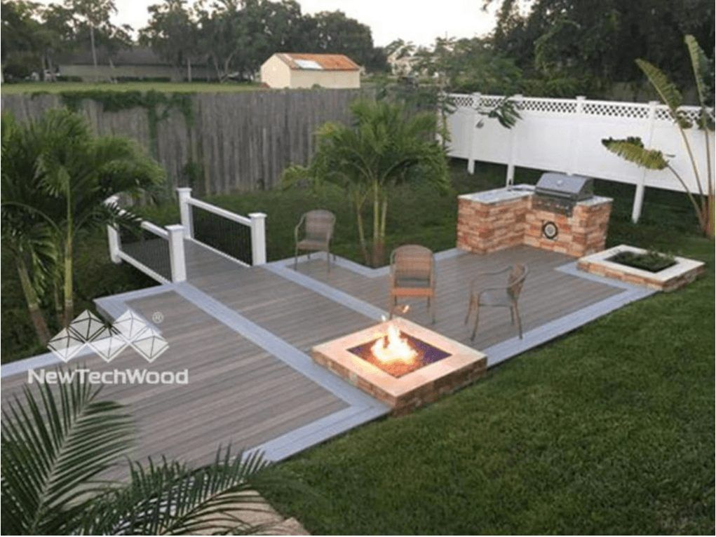 decking matched with various colors