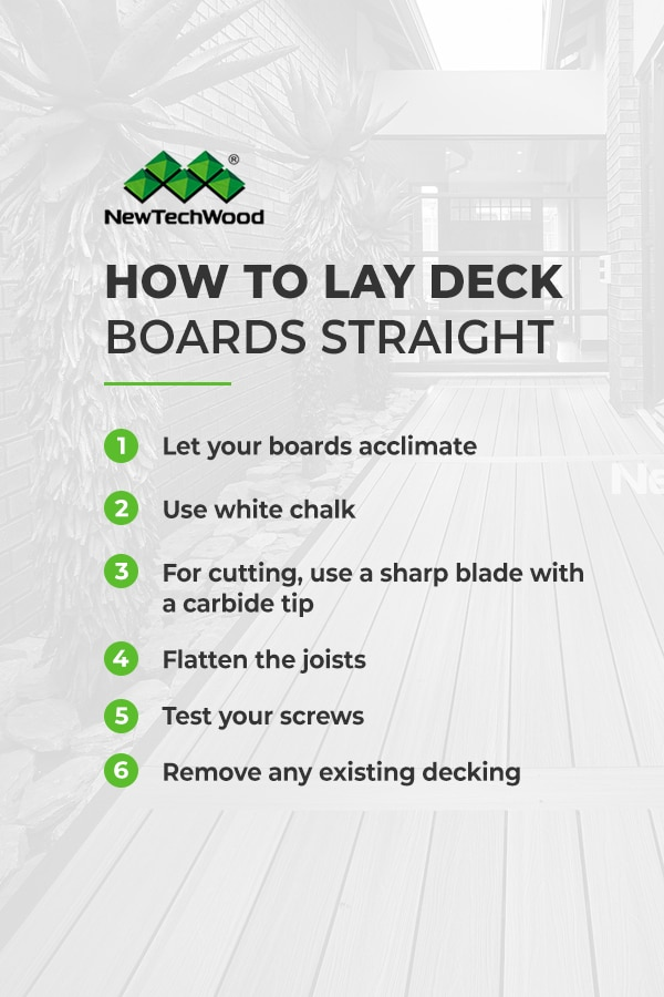 How to Lay Deck Boards Straight