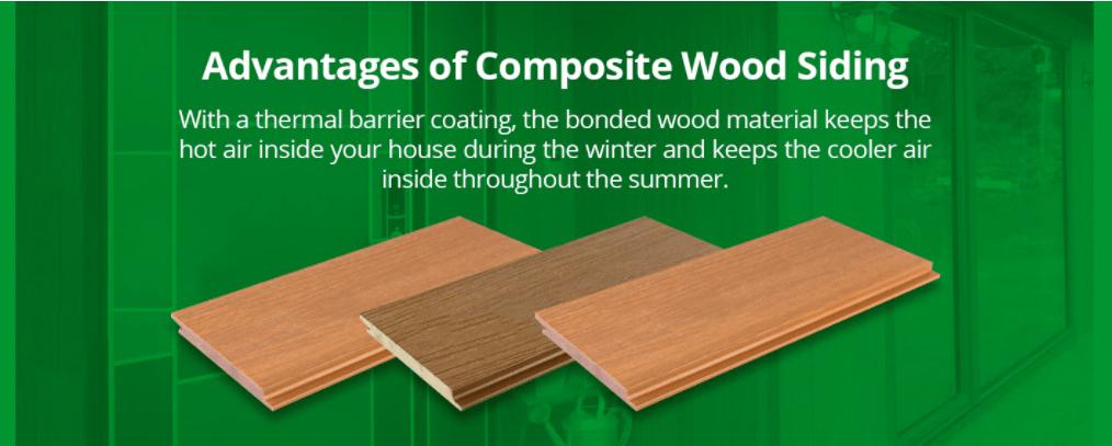 advantages of composite wood siding