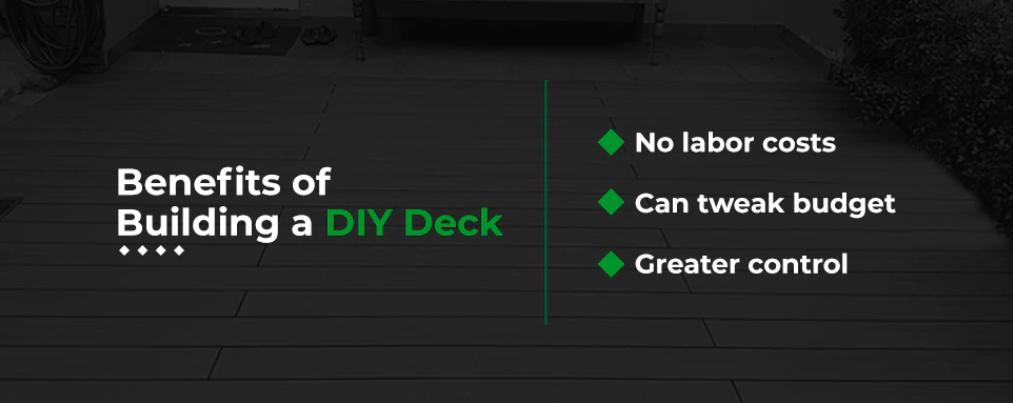 benefits of building a diy deck