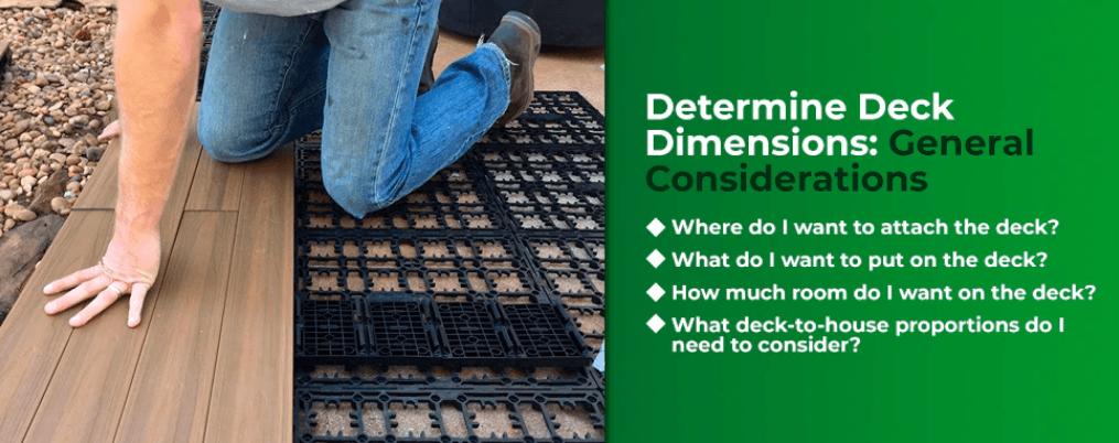 determine deck dimensions