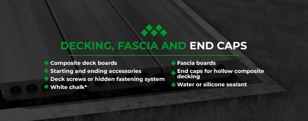 decking fascia and end caps