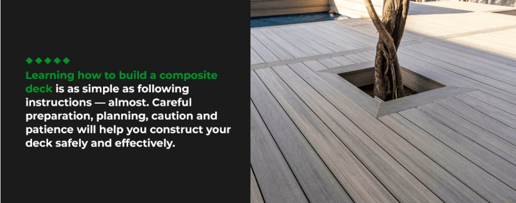 learning how to build a composite deck