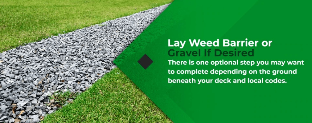 lay weed barrier