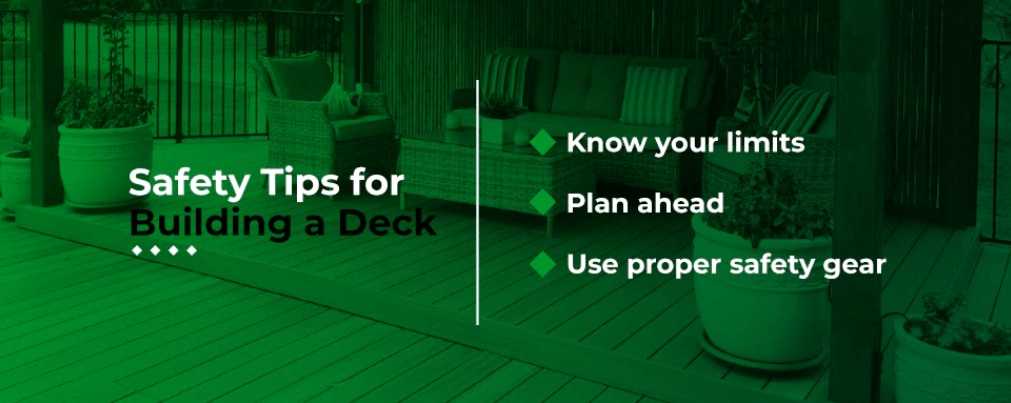 safety tips for building a deck
