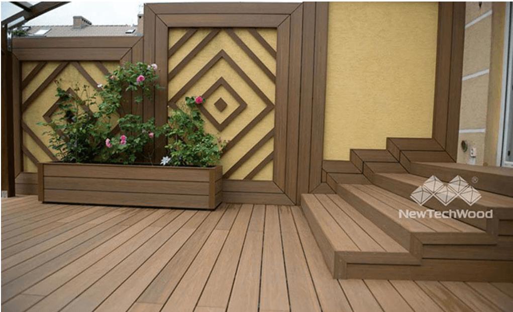 medium patio with flower box